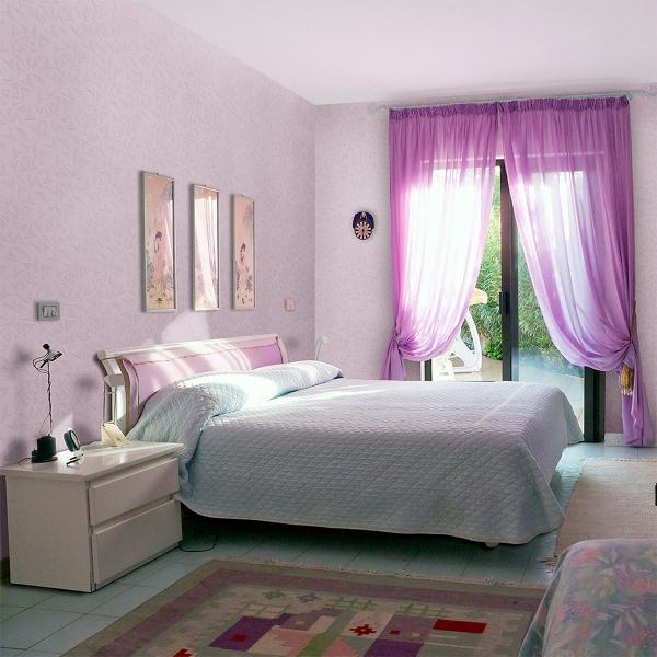 Покраска спальни в два цвета фото