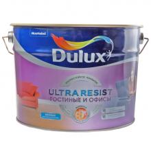 Краска DULUX Ultra Resist гостиные и офисы, ультрастойкая BW 2,5 л., фото 1