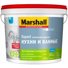 Краска MARSHALL EXPORT для кухни и ванной 4.5 л. BW, фото 1
