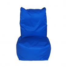 """Бескаркасное кресло-мешок со спинкой """"Throne"""" синий (350л), фото 1"""