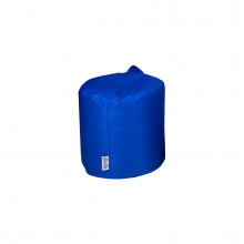 Бескаркасный пуф «Mini Drum» синий (50л), фото 1