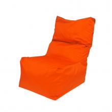 """Бескаркасное кресло-мешок со спинкой """"Throne"""" оранжевый (350л), фото 1"""