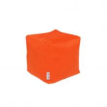 Бескаркасный пуф «Mini Сube» оранжевый (50л), фото 1