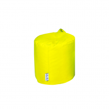 Бескаркасный пуф «Mini Drum» желтый (50л), фото 1