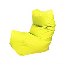 """Бескаркасное кресло-мешок со спинкой """"Throne"""" желтый (350л), фото 1"""