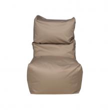 """Бескаркасное кресло-мешок со спинкой """"Throne"""" бежевый (350л), фото 1"""