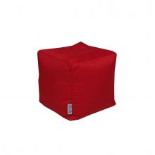 Бескаркасный пуф «Mini Сube» красный (50л), фото 1