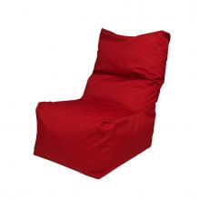 """Бескаркасное кресло-мешок со спинкой """"Throne"""" красный (350л), фото 1"""