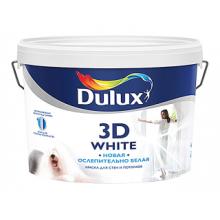 Краска DULUX 3D White новая ослепительно белая матовая BW 10 л, фото 1