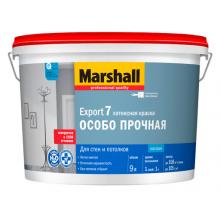 Краска для стен и потолка MARSHALL 'EXPORT-7' 9 л. BW, фото 1