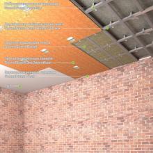 """Звукоизоляция под натяжной потолок - система """"Стандарт"""" Толщина - 63 мм, RW = 59-66 дБ, фото 1"""
