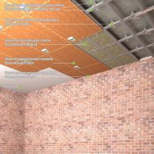 """Звукоизоляция потолка - система """"Эконом"""" Толщина - 71 мм, RW = 57-62 дБ, фото 1"""