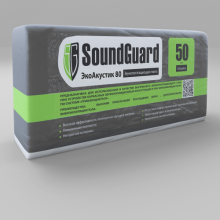 Плита звукопоглощающая SoundGuard ЭкоАкустик 80 кг/ м3, 50 мм, 3 м2, фото 1