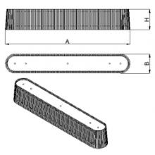 Светильник потолочный Owalo (A=910, B=140, H=165), фото 1