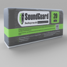 Плита звукопоглощающая SoundGuard ЭкоАкустик 80 кг/ м3, 20 мм, 7.5 м2, фото 1