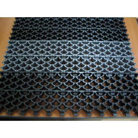 Ковер решетка модульный Орикс-20 (высота 20мм) черный 1 м2, фото 3