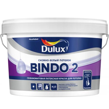 Краска DULUX Professional BINDO-2 Снежно-белый потолок 9 л, фото 1