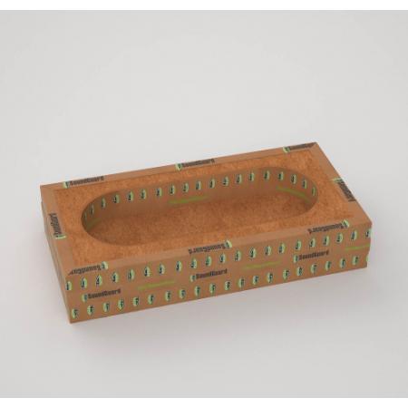 Звукоизоляционный подрозетник  SoundGuard ИзоБокс Премиум 3-секционный, фото 1