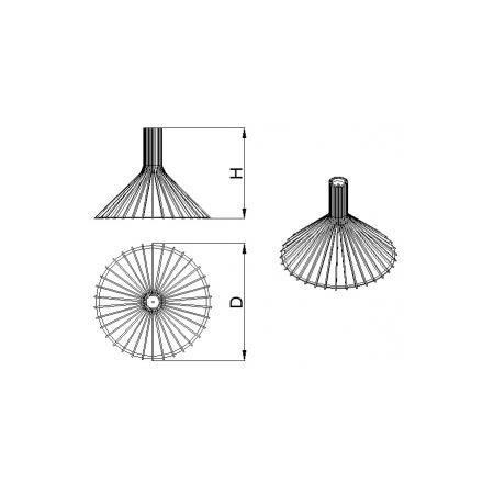 Светильник потолочный Conical Lite (H=450, D=495), фото 4