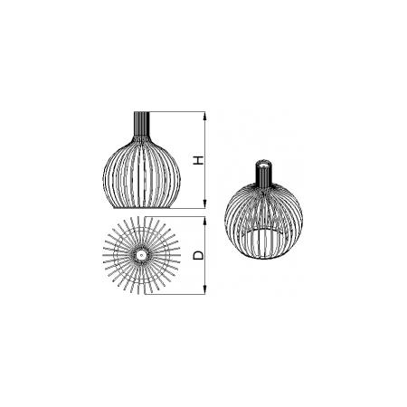 Светильник потолочный Orb-M Lite (H=580, D=450), фото 2