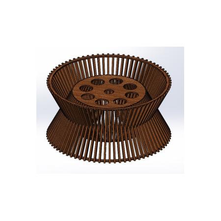 Светильник потолочный Rondella Lite (H=220мм, D=450мм), фото 1