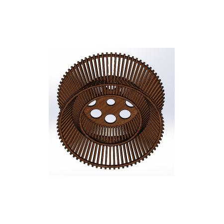 Светильник потолочный Rondella Lite (H=220мм, D=450мм), фото 2