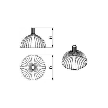 Светильник потолочный Semisfera-L Lite (H=720, D=785), фото 4