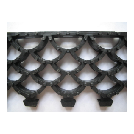 Ковер решетка модульный Орикс-20 (высота 20мм) черный 1 м2, фото 2
