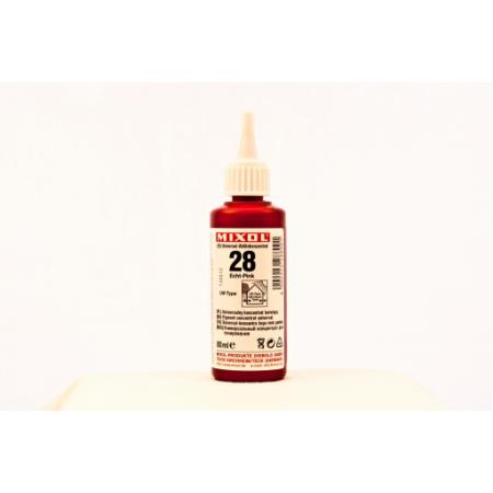Колер универсальный Mixol №28(80 ml) розовый прочный, фото 1