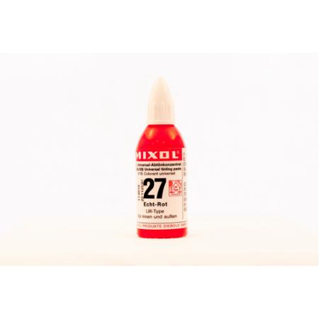 Колер универсальный Mixol №27(20 ml) красный прочный, фото 1