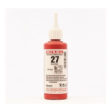Колер универсальный Mixol №27(80 ml) красный прочный, фото 1