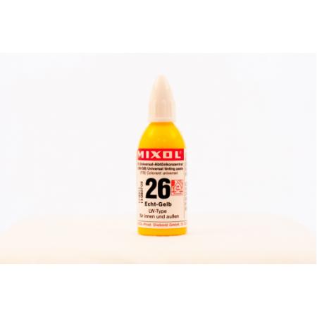 Колер универсальный Mixol №26(20 ml) желтый прочный, фото 1